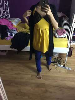 Mustard doll top sleveless