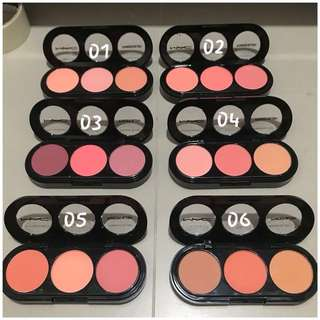 💌 FREE Normal Mail 【INSTOCK】 Mac 3 In 1 Powder Blush Shades • Available: #01 To #06