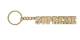 Supreme block logo keychain