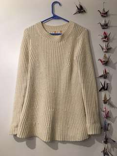MOVING SALE: white sweater dress