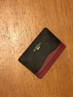 Coach card holder (red)