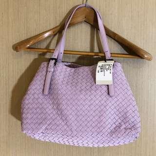 全新連牌 BV Bottega Veneta 粉紫色 lavender Nappa tote bag