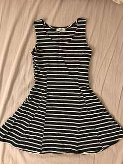 Black & White Striped Dress