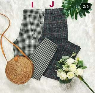Plaid vintage trouser