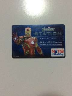 Ezlink Card (nets flash card)( Iron man and Captain American design)