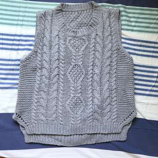 🚚 灰色毛衣 背心