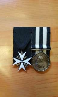 聖約翰救傷隊長期服務獎章(銀製)及4級勳銜