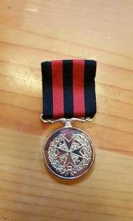 聖約翰救傷隊長期服務獎章,全新
