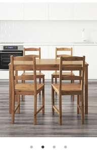IKEA Jokkmokk Table and Four Chairs
