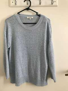 Miss shop blue knitwear jumper
