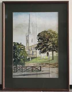 Watercolour Painting 1989 Signed