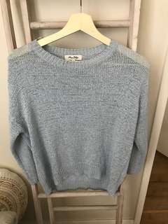 Miss shop baby blue knit