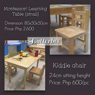 Montessori Learning Table (small)