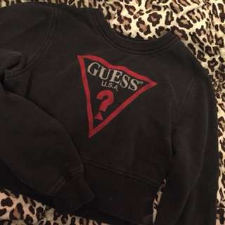 Vintage guess cropped sweater