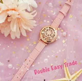百變小櫻玫瑰金手錶