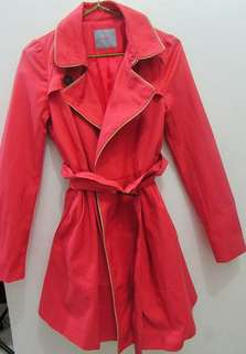Pink Korean Trench Coat