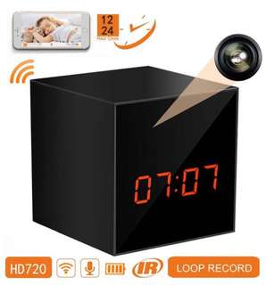 Panoraxy Mr Cube Mini WiFi Hidden Camera Clock with Night Vision