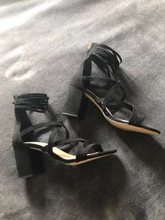 New Glassons strappy heels (size 7)