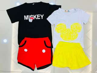 Girls & Boys T-shirt set