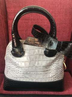 Paule ke grey and black handbag size 12 inch and 10 inch