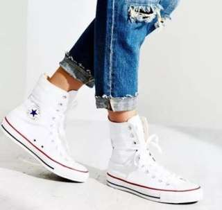 AUTHENTIC White Converse Extra Hightop