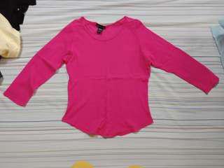 Pink 3/4 sleeves top