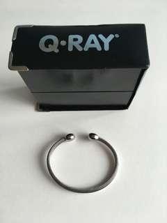 Q-Ray Silver Deluxe Medium size Wristband/Bracelet