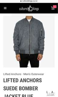 Culture kings Suede Bomber Jacket