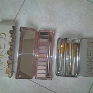 Naked 3 eyeshadow and brush 12 set free  brow  pencil