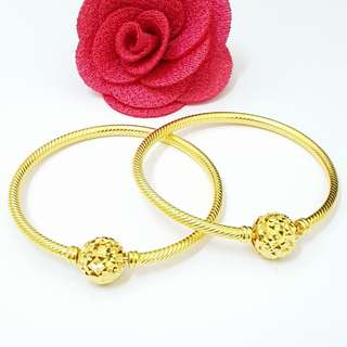 Bangle kids pandora gold 916 /pair