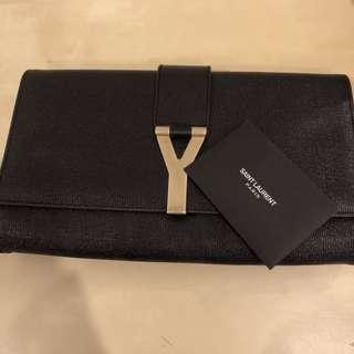Authentic YSL Yves Saint Laurent Ligne Y Clutch