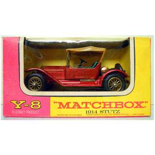 Lesney's Matchbox Y-8 1914 Stutz Type 4E Roadster (Models of Yesteryear Series)  * Original Super Vintage Set- Release in 1969 * Excellent Condition by Vintage Standards  (Diecast Vintage Car Collectible)