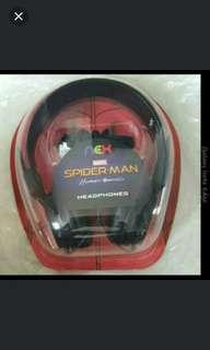 Marvel Spiderman Headphones / Black / brand new