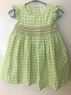 Carters Checkered green dress
