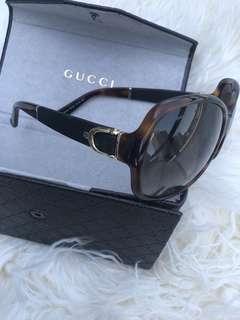Gucci GG 3638 Tortoise Brown Gradient Oversized Stirrup Sunglasses