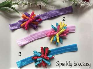 Handmade Elastic Headband/ baby/ toddler/ hair bow/ hairbow/