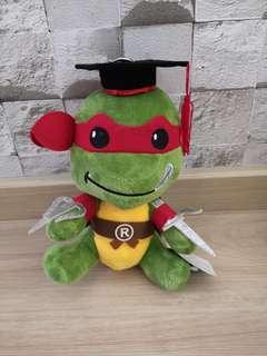 Ninja turtle graduation plush