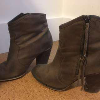 Aldo Chunk Heel Ankle Boots