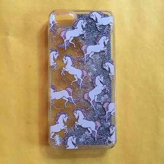 Unicorn Glitter-Water Case for IPhone 5/5S/SE