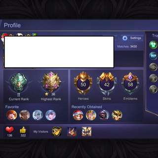 Mythic Account - Mobile Legends (iOS)