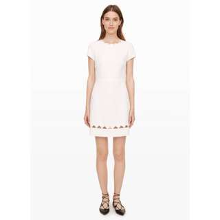 Club Monaco Milancey White Peekaboo Dress - Size 2
