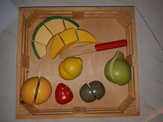 Wooden cutting fruit toy