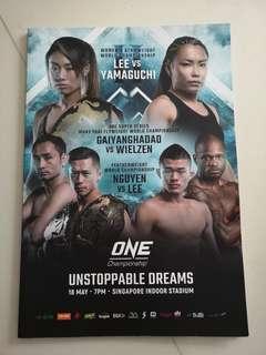 One Championship MMA magazine