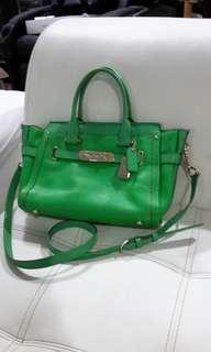 Green coach bag