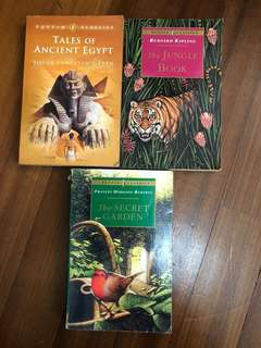 Puffin Classics #The Secret Garden #The Jungle Book #Tales of Ancient Egypt