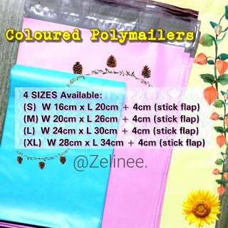 Size M & XL [AVAIL💟] COLOURED Polymailer