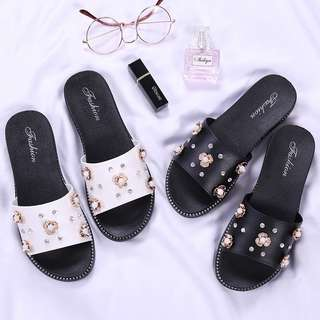 [PO] Diamond Floral Sandals