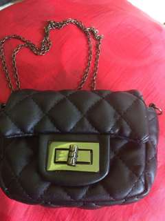 CHANEL Inspired Genuine Leather Sling Bag