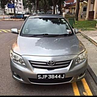 Toyota altis for grab no dep