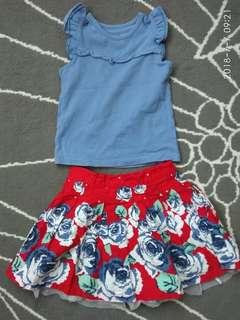 Girl Top and Skirt